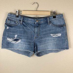 Gap Sexy Boyfriend Cut-Off Distressed Jean Shorts